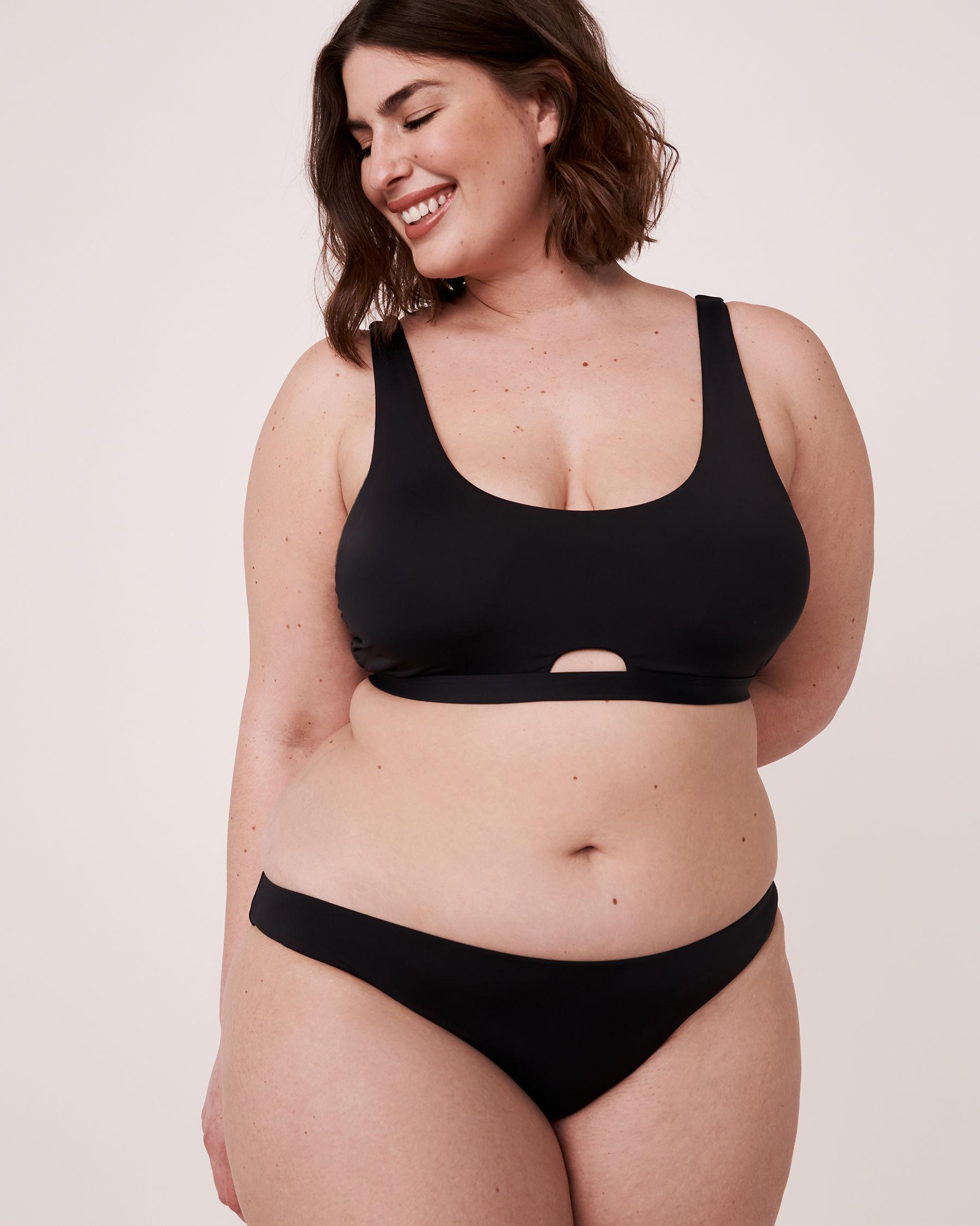 LA VIE EN ROSE AQUA Haut de bikini bralette SOLID Noir 70100113 - Voir1