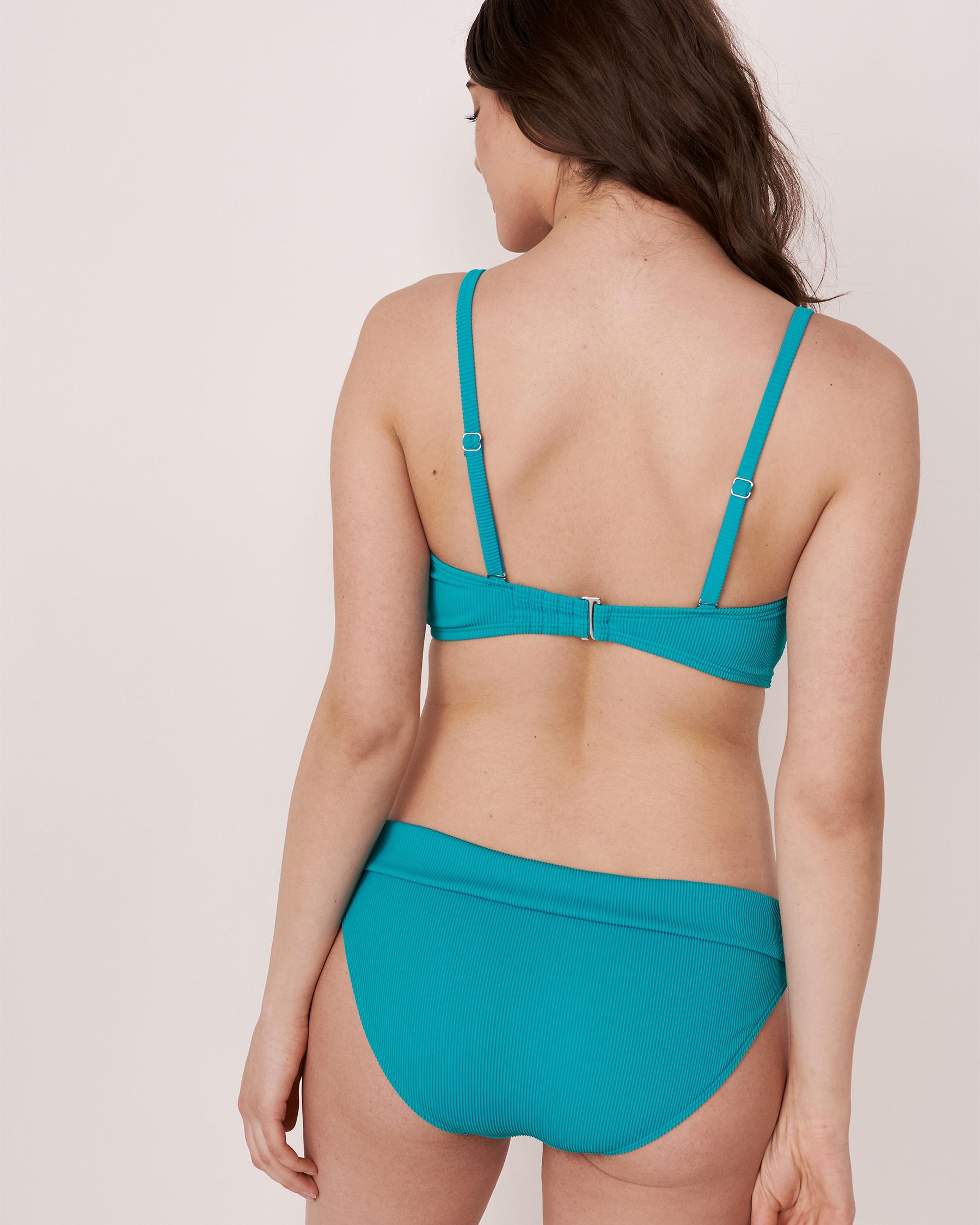 LA VIE EN ROSE AQUA TOOTSIE RIB Recycled Fibers D Cup Bandeau Bikini Top Blue 70200010 - View3