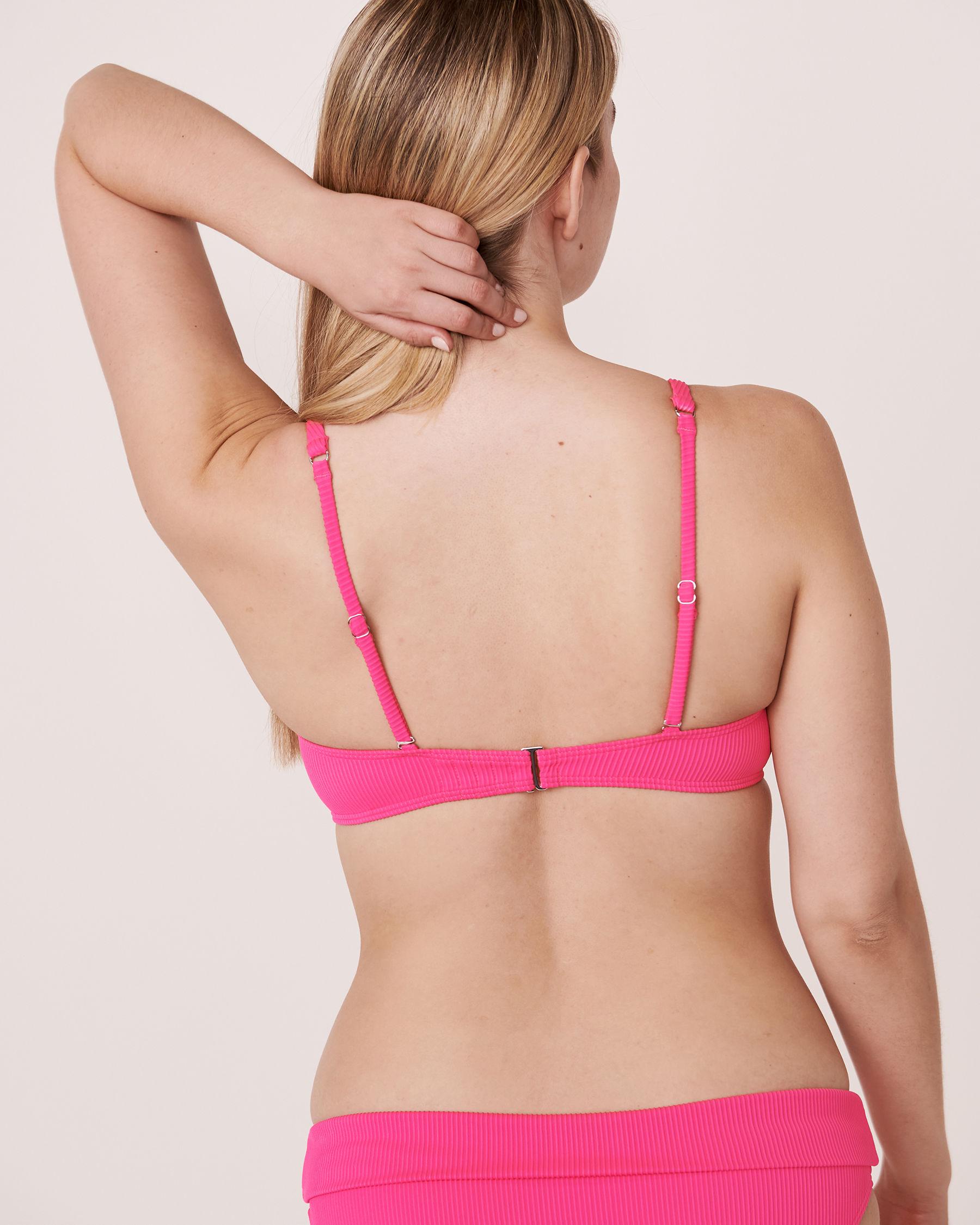 LA VIE EN ROSE AQUA Haut de bikini push-up en fibres recyclées TOOTSIE RIB Rose néon 70100072 - Voir3