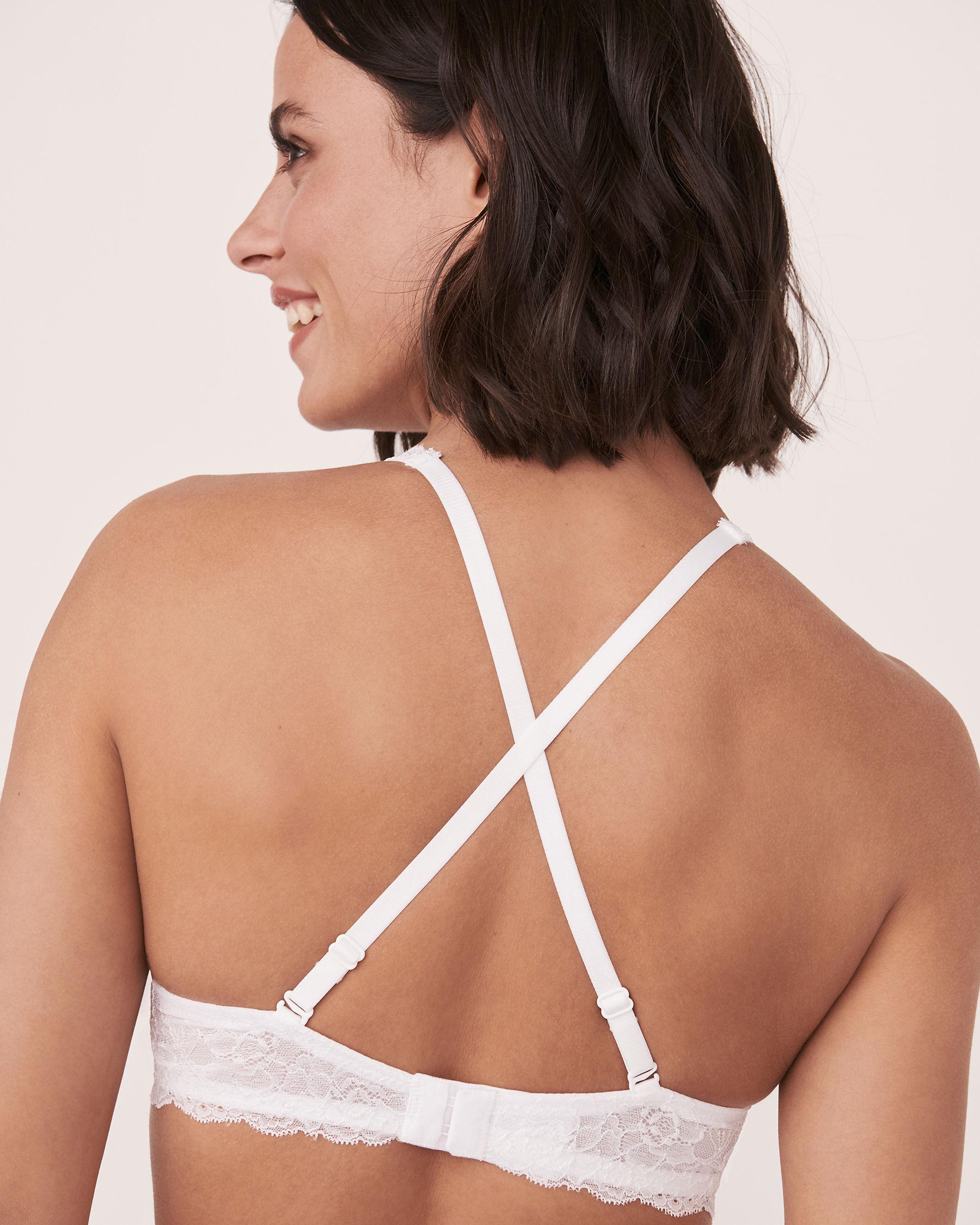 LA VIE EN ROSE Unlined Bra White Lace 618-114-0-00 - View3